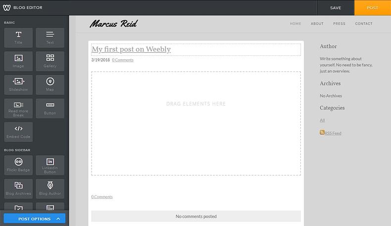 weebly editor