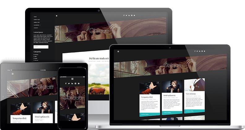 Oblique - a theme for a WordPress news aggregator website