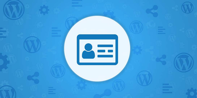create a WordPress About section