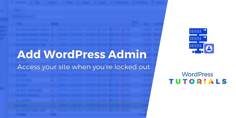 Add new WordPress admin