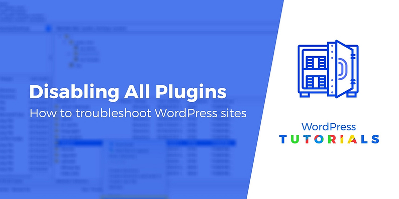 Methods for disabling all plugins in WordPress