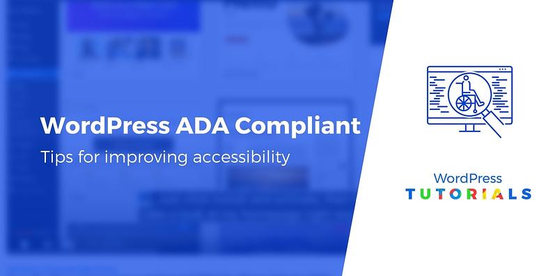 WordPress ADA compliant