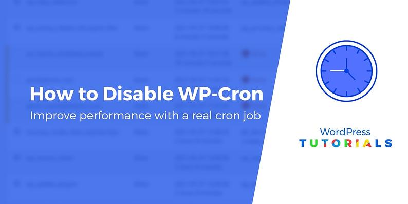 Disable wp-cron