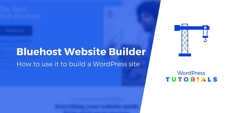 Bluehost website builder tutorial