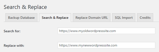 Using the Search & Replace plugin.