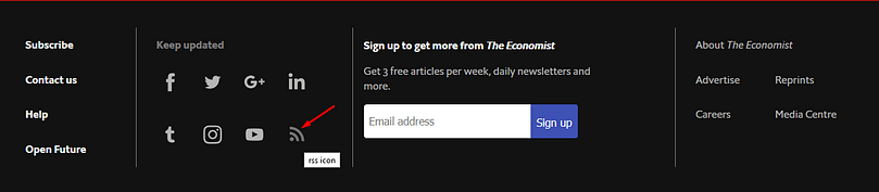 RSS Feeds are freely available on The Ecopnomist website