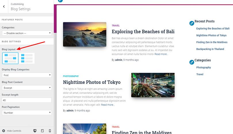 Hestia 2.0 blog layouts