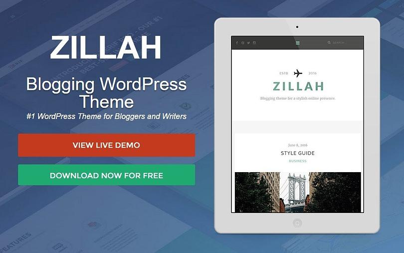 Zillah landing page