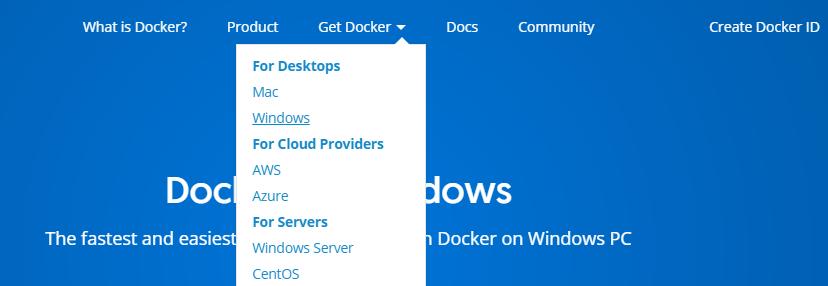 Downloading Docker.