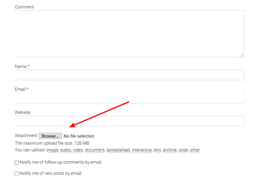 DCO comment replacement
