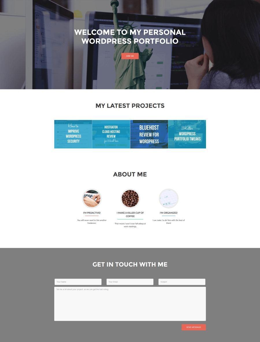 portfolio site on WordPress