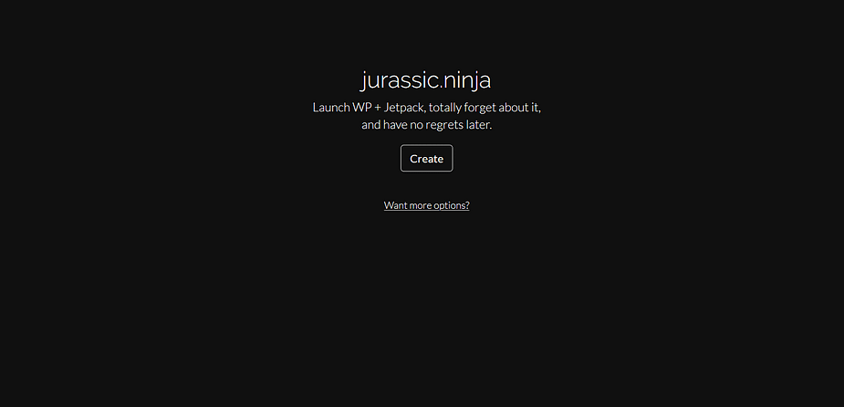 Jurassic Ninja helps you create WordPress test installs