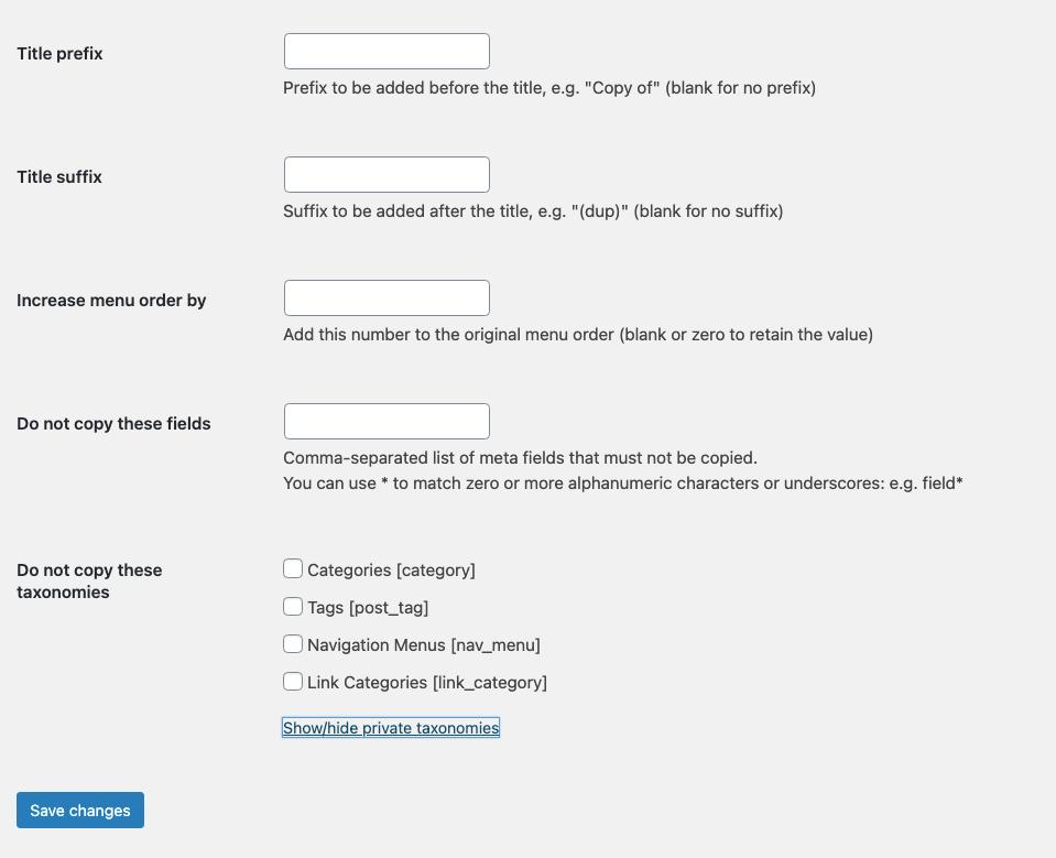 As opções de plugin de postagem duplicadas para copiar