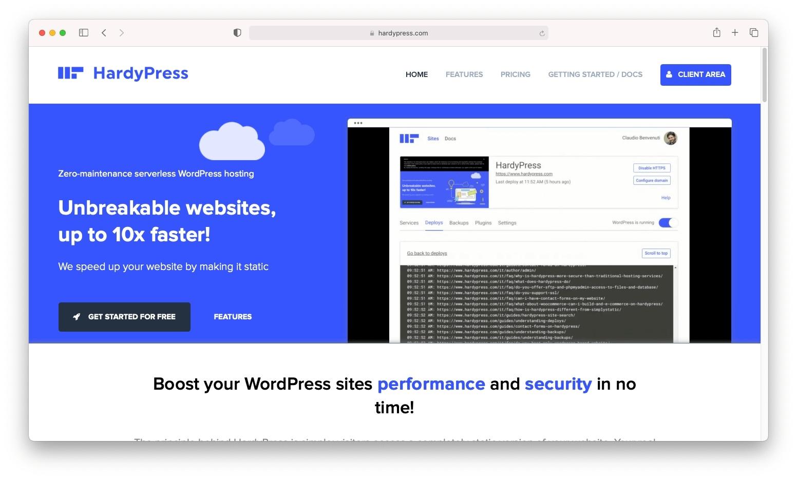 Hospedagem WordPress sem servidor HardyPress.