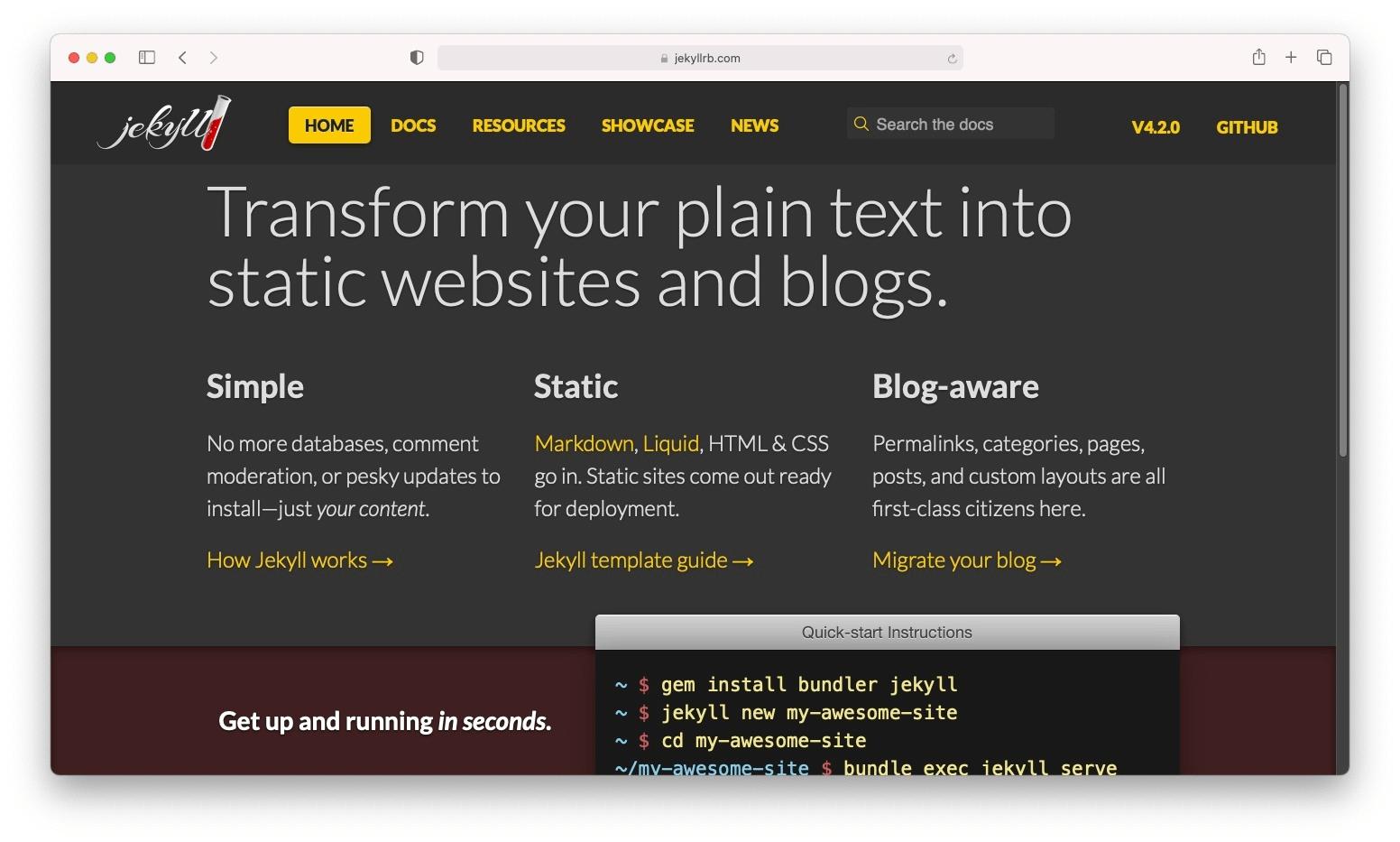Jekyll, um conversor de WordPress para HTML de código aberto.