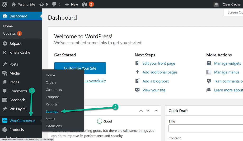 settings tab - customer reviews for WooCommerce