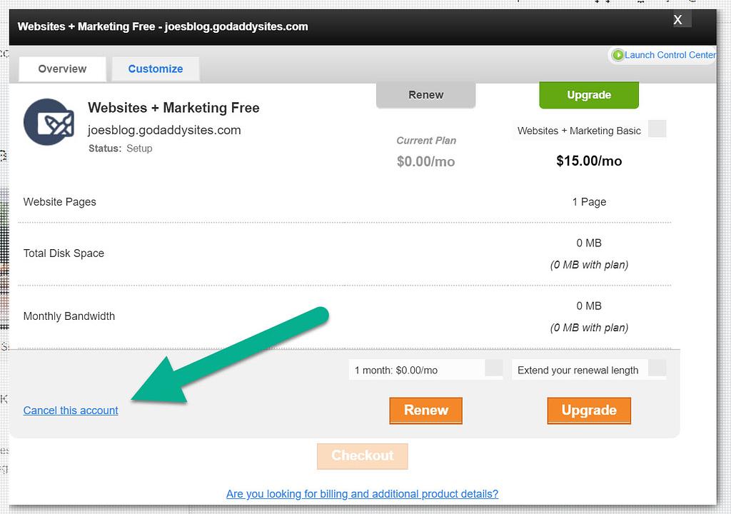 Account link - GoDaddy Website Builder to WordPress