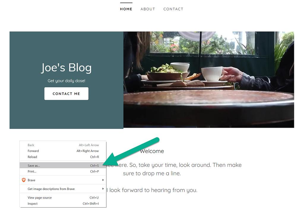 save webpage as
