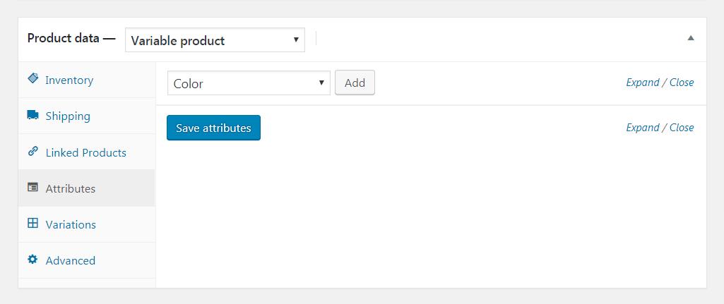 Adding WooCommerce attributes.
