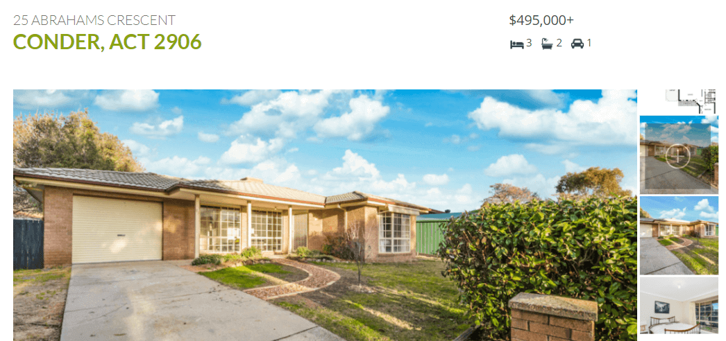 An example of a WordPress real estate website listing.