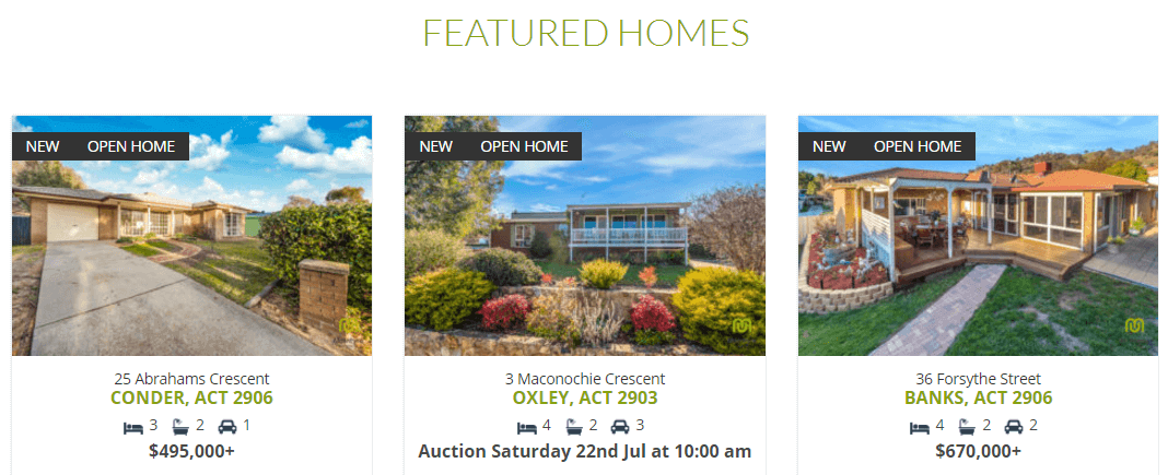 Multiple real estate listings.