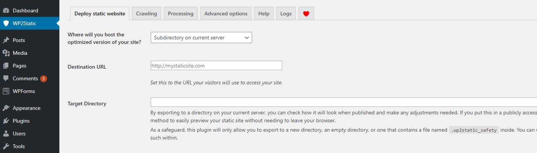 Deploying a static headless WordPress website.