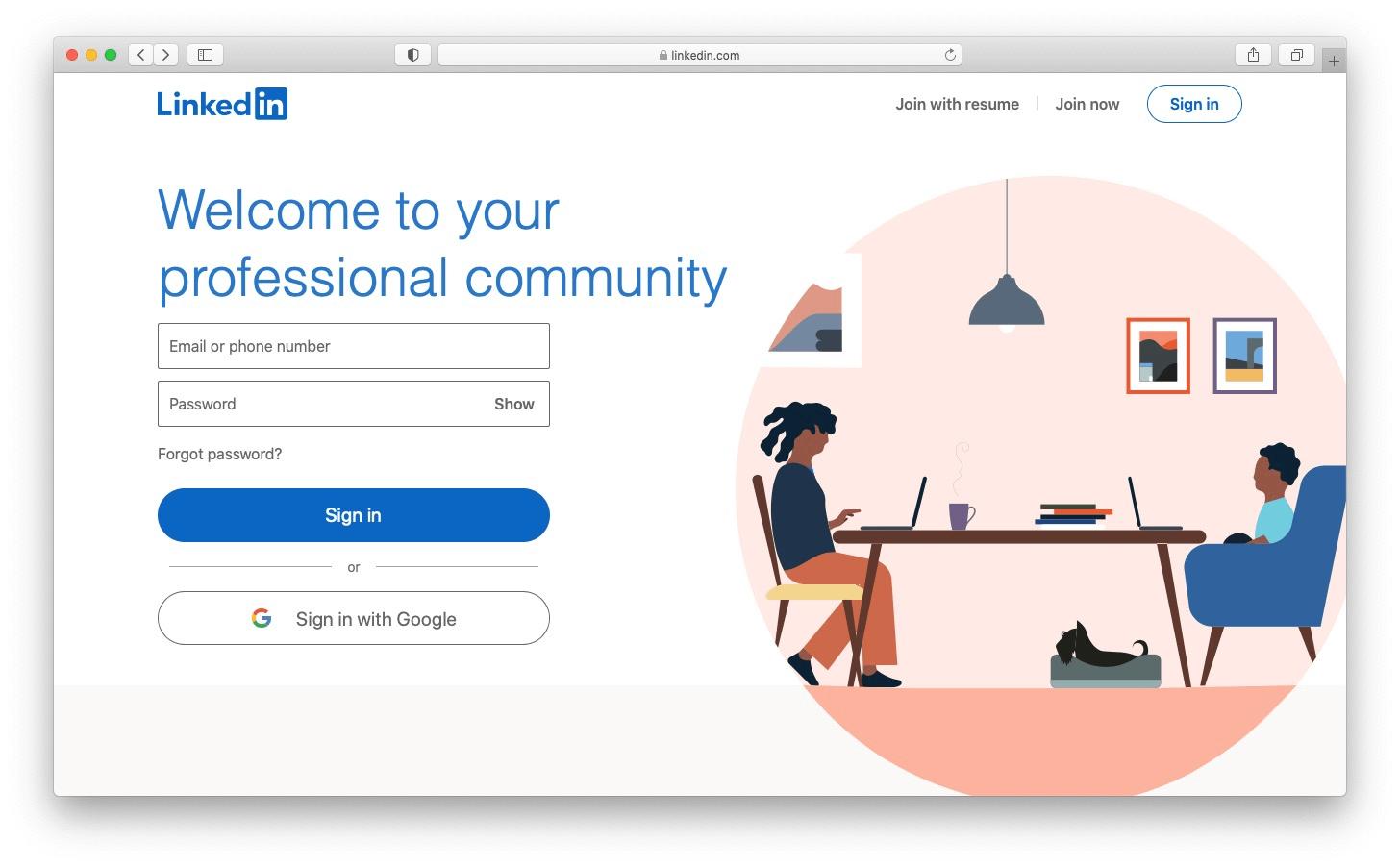 Best free blog sites: LinkedIn