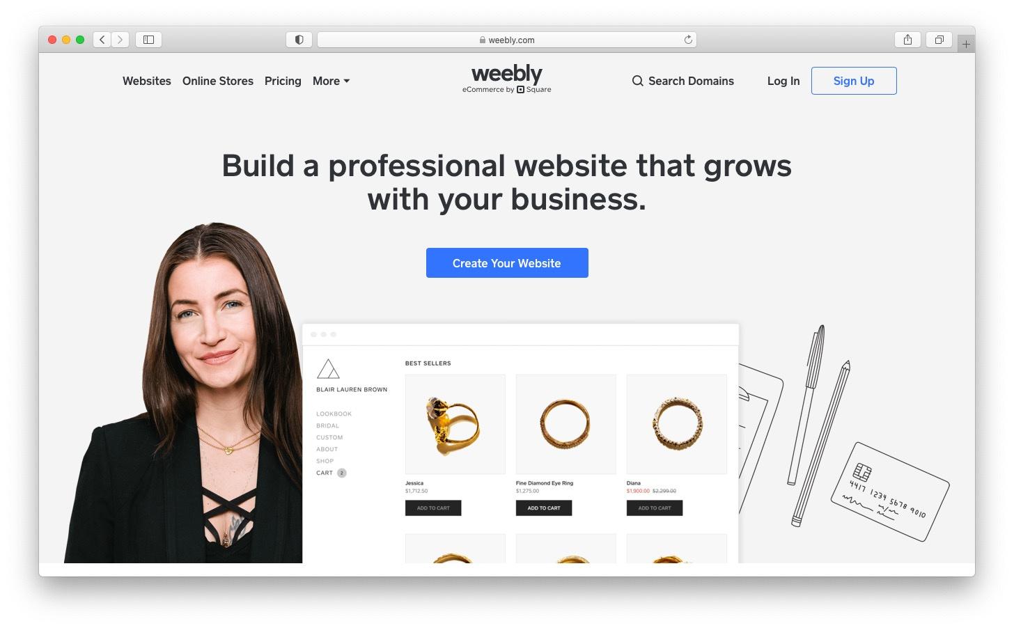 Best free blog sites: Weebly
