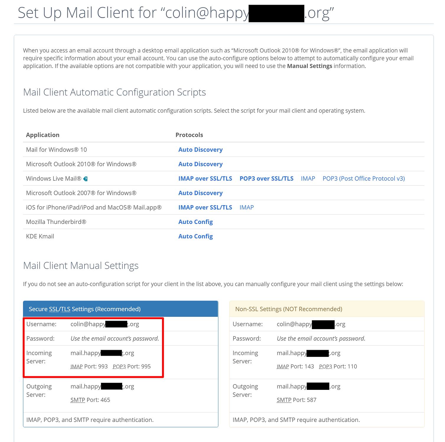 Setup email with Bluehost
