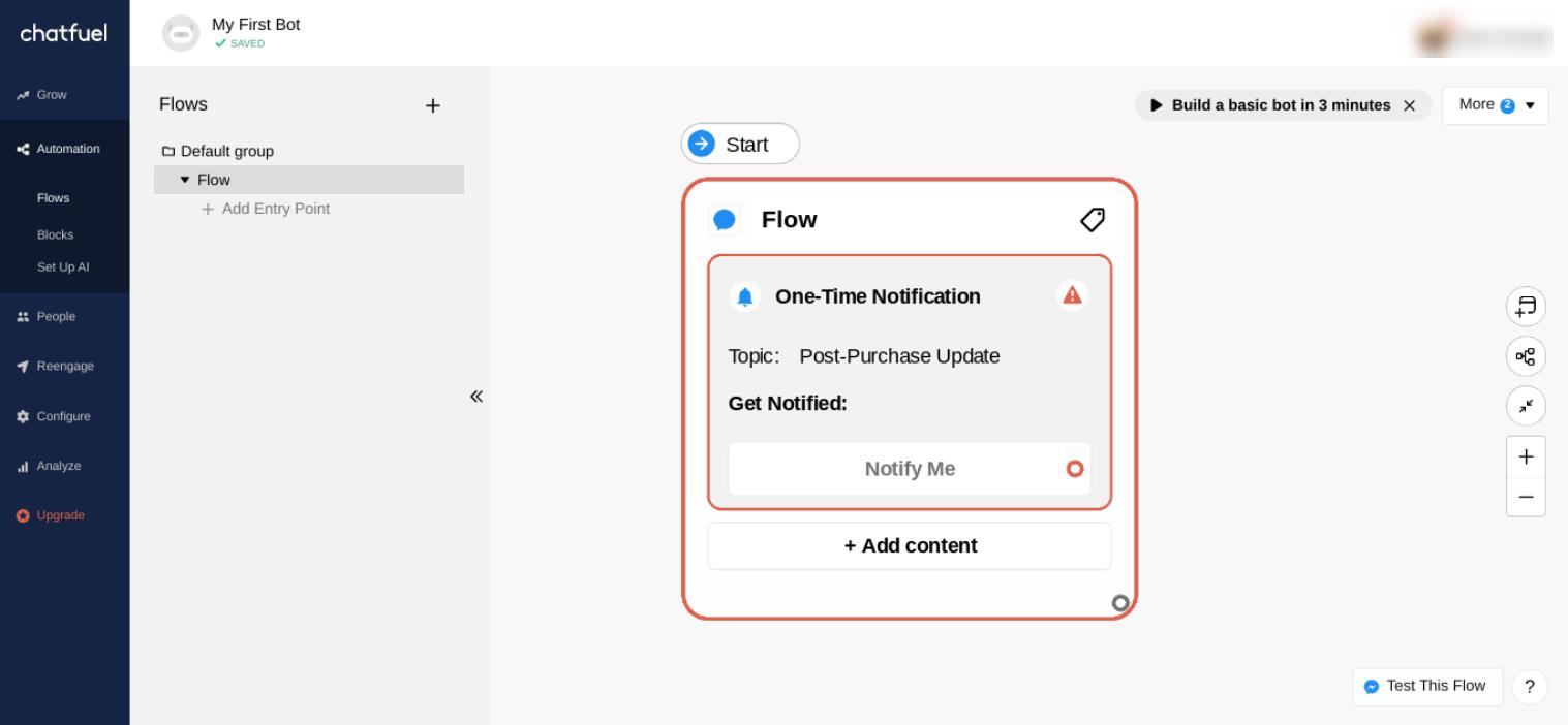 Construyendo un chatbot de comercio electrónico con Chatfuel.