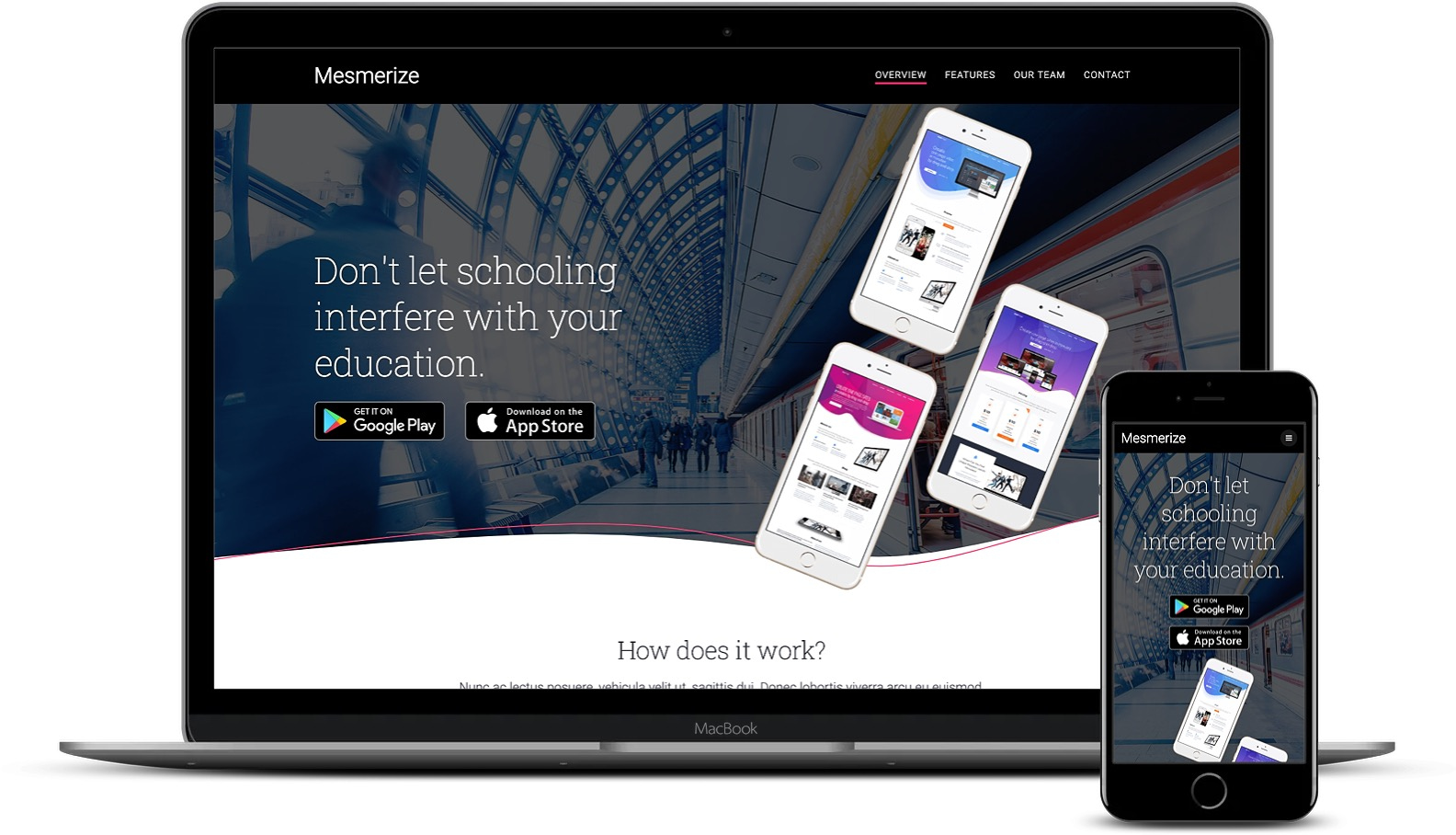 Mesmerize on desktop and mobile