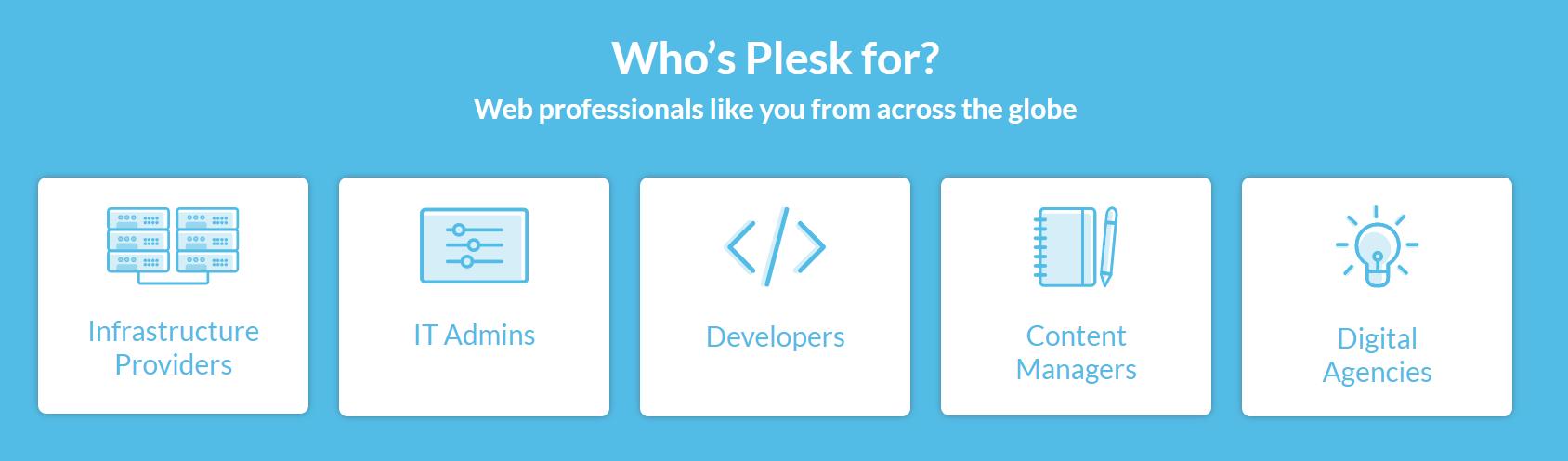 Plesk homepage