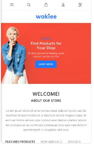 wokiee theme mobile design for Shopify