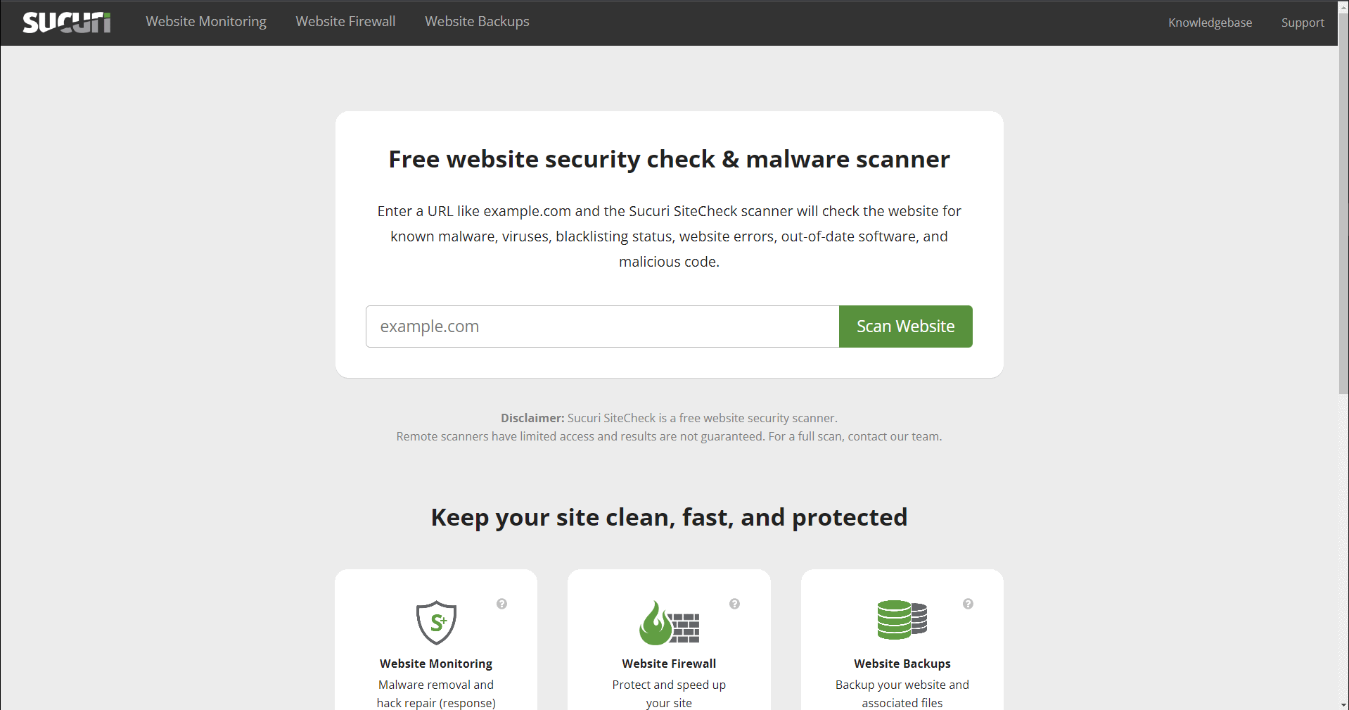 Keep a website secure with Sucuri Site Checker