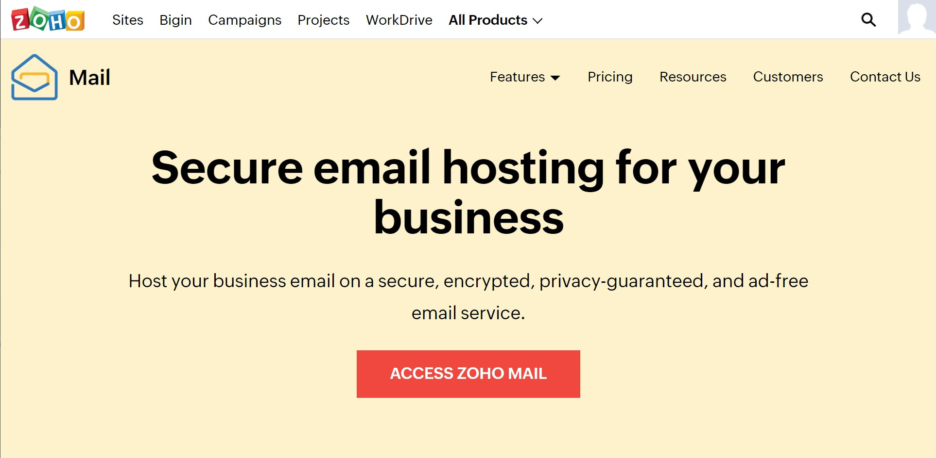 Cheap email hosting from Zoho Mail