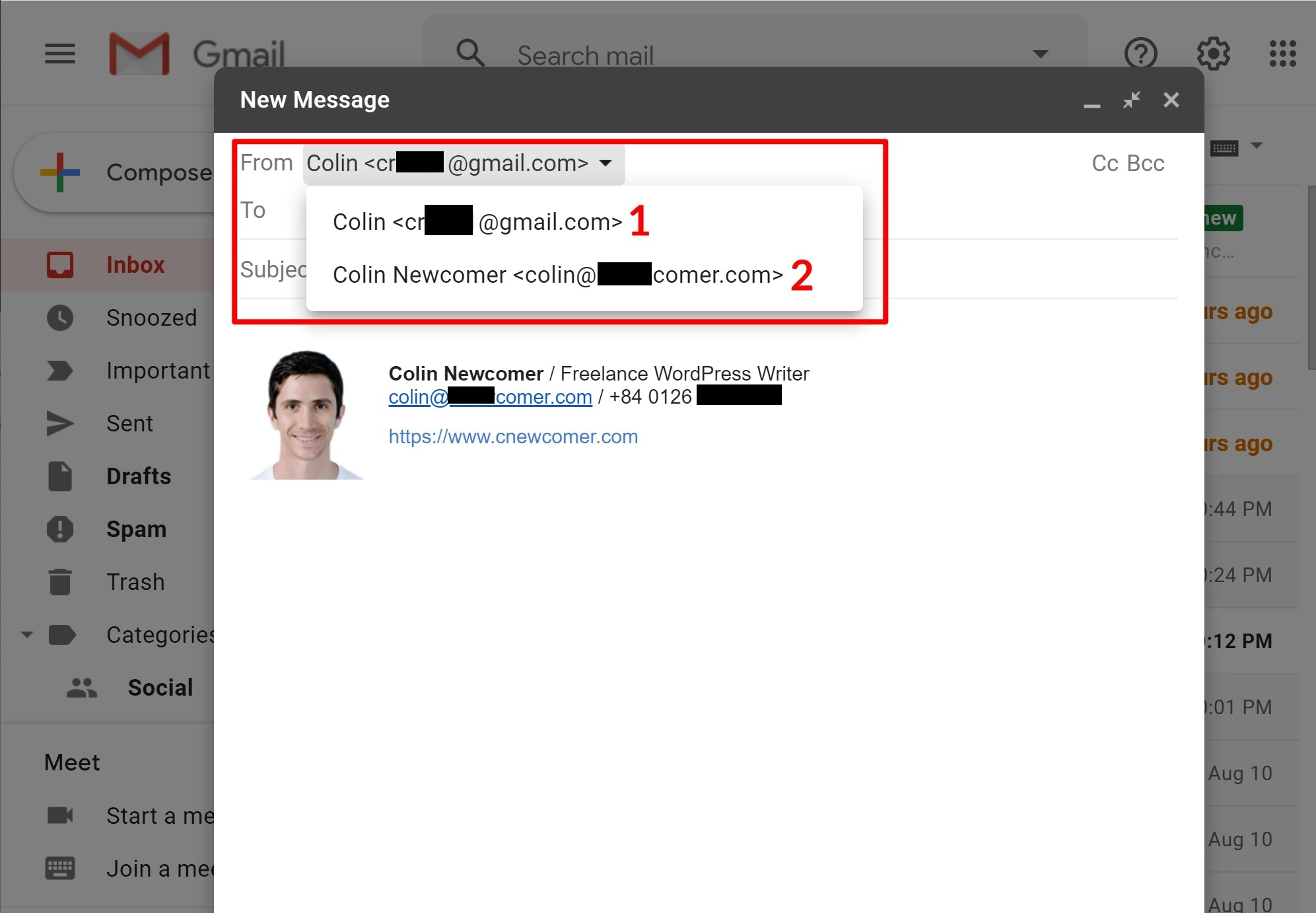 How to use Gmail with your own custom domain name
