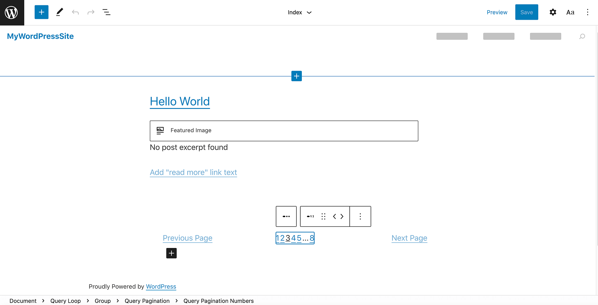 The new WordPress full site editing feature.