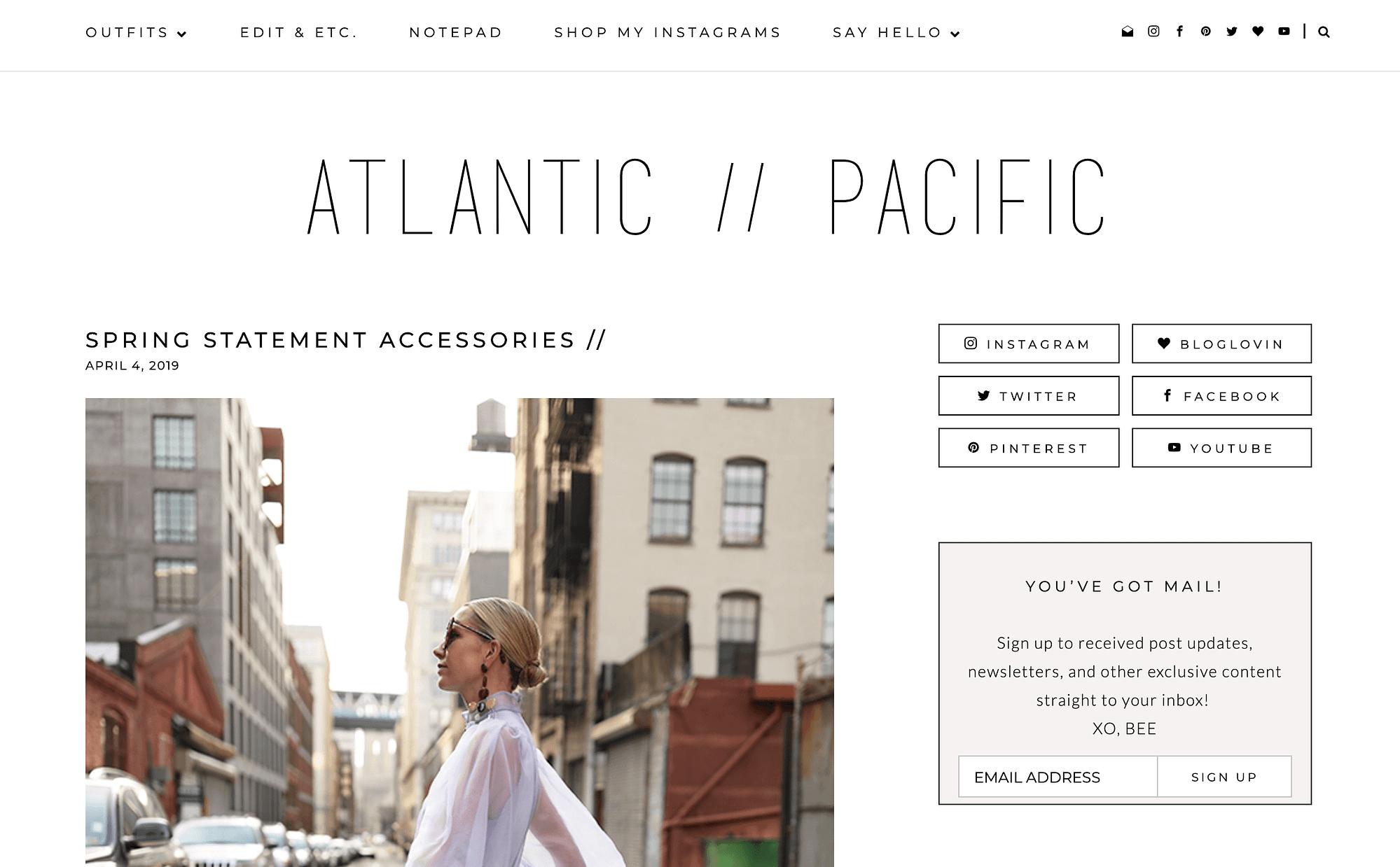 The Atlantic Pacific fashion blog.