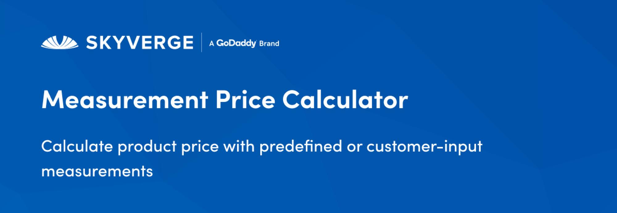 measurement price WordPress calculator plugins