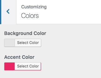 customizer colors