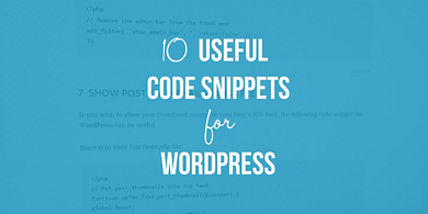 Code Snippets for WordPress