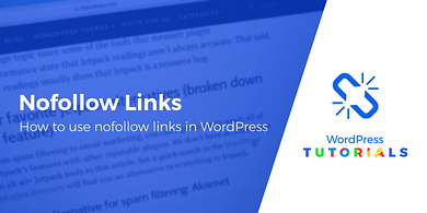 how to make nofollow links in WordPress