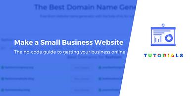 Make a small business website