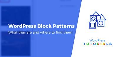WordPress block patterns