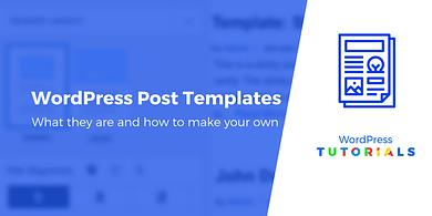 WordPress post templates