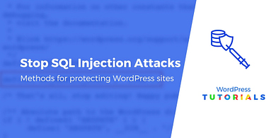 SQL injection WordPress