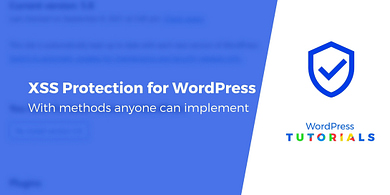 XSS protection for WordPress