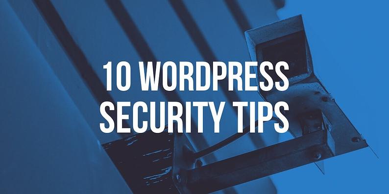 10 WordPress security tips