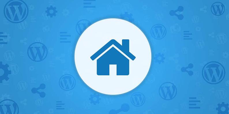 WordPress real estate website
