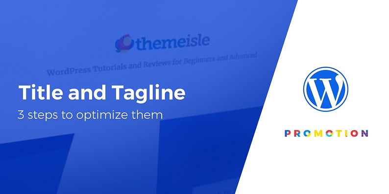 optimize your WordPress title and tagline